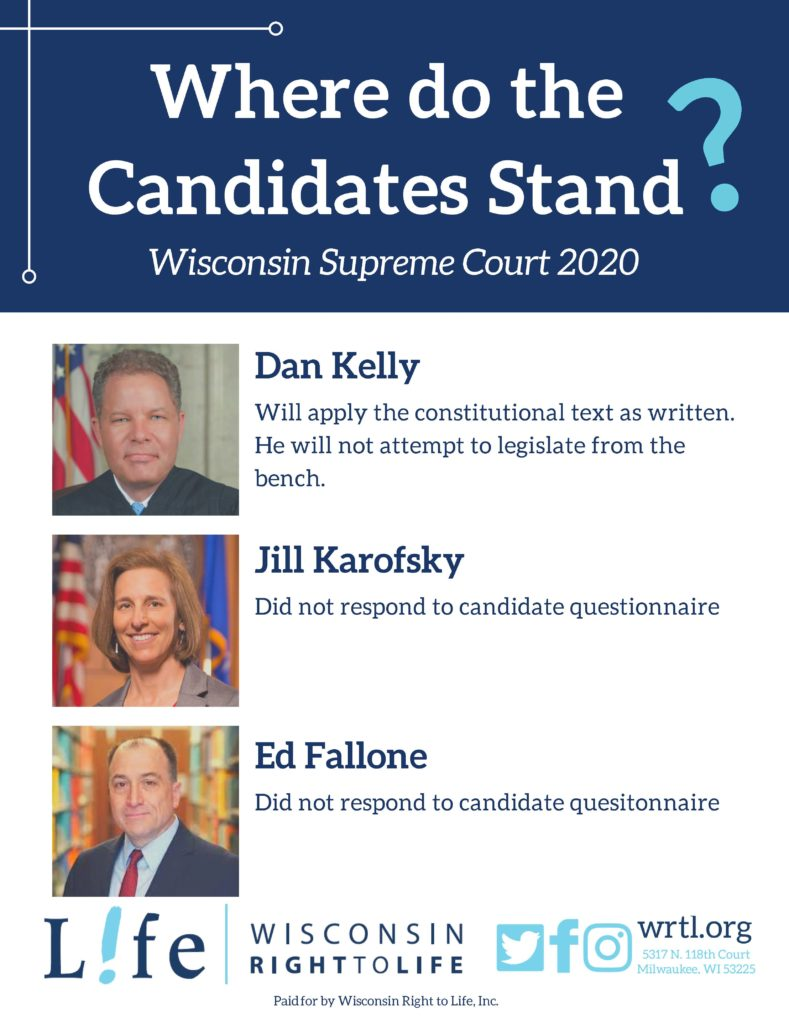 Candidates for Wisconsin Supreme Court 2020