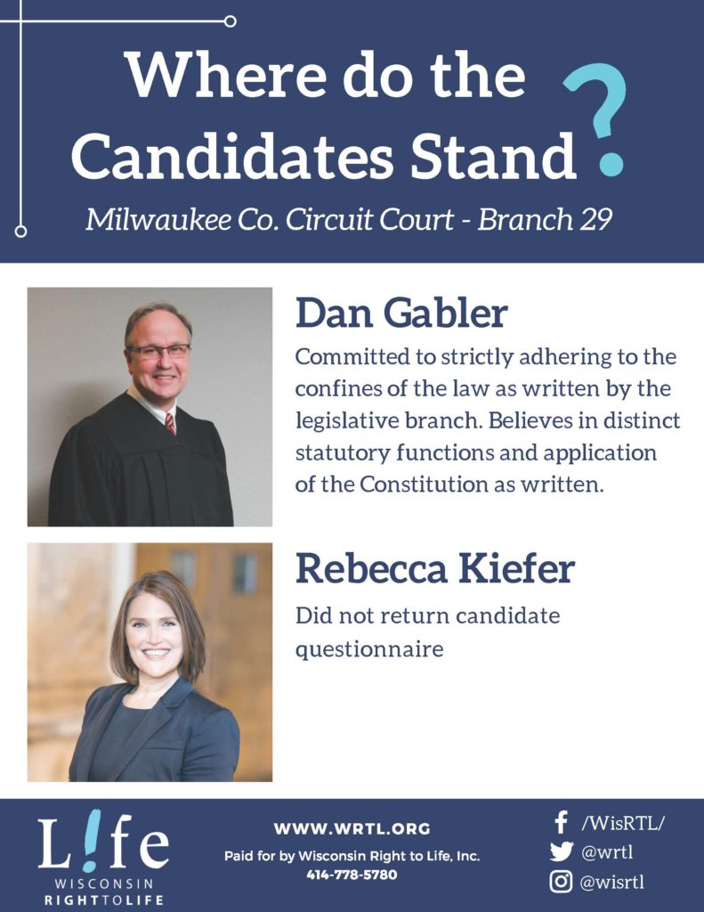 Compare the candidates for Milwaukee County Circuit Court Branch 29
